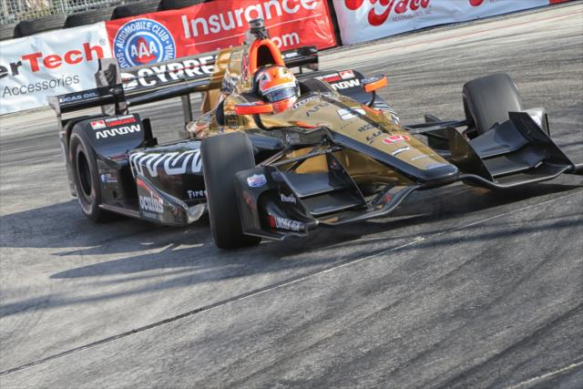 James Hinchcliffe. indycar.com; Richard Dowdy