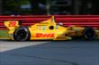 Ryan Hunter-Reay heads under the Honda Bridge in Turn 7 during practice for the Honda Indy 200 at Mid-Ohio -- Photo by: Bret Kelley