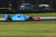 Ryan Briscoe rolls through the Turn 12 Carousel during practice for the Honda Indy 200 at Mid-Ohio -- Photo by: Bret Kelley