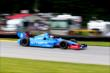 Ryan Briscoe makes his way into the Turn 12 Carousel during practice for the Honda Indy 200 at Mid-Ohio -- Photo by: Bret Kelley