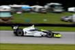 Josef Newgarden makes his way into the Turn 12 Carousel during practice for the Honda Indy 200 at Mid-Ohio -- Photo by: Bret Kelley