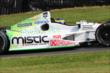 Sebastien Bourdias rolls through the Turn 12 Carousel during practice for the Honda Indy 200 at Mid-Ohio -- Photo by: Bret Kelley