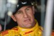 Ryan Hunter-Reay waits in his pit stand prior to practice for the Honda Indy 200 at Mid-Ohio -- Photo by: Chris Owens