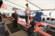 Graham Rahal is weighed in the INDYCAR Tech pad -- Photo by: Chris Owens