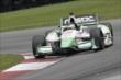 Sebastien Bourdais navigates the Turn 12 Carousel during practice for the Honda Indy 200 at Mid-Ohio -- Photo by: Joe Skibinski