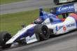 Mikhail Aleshin navigates the Turn 12 Carousel during practice for the Honda Indy 200 at Mid-Ohio -- Photo by: Joe Skibinski