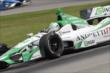 Carlos Munoz navigates the Turn 12 Carousel during practice for the Honda Indy 200 at Mid-Ohio -- Photo by: Joe Skibinski