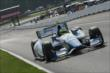 Carlos Huertas flies up the frontstretch during practice for the Honda Indy 200 at Mid-Ohio -- Photo by: Joe Skibinski