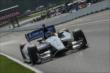 Mikhail Aleshin flies up the frontstretch during practice for the Honda Indy 200 at Mid-Ohio -- Photo by: Joe Skibinski