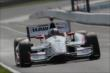 Juan Pablo Montoya heads up the frontstretch during practice for the Honda Indy 200 at Mid-Ohio -- Photo by: Joe Skibinski