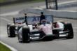 Takuma Sato roars up the frontstretch during practice for the Honda Indy 200 at Mid-Ohio -- Photo by: Joe Skibinski