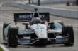 Will Power roars up the frontstretch during practice for the Honda Indy 200 at Mid-Ohio -- Photo by: Joe Skibinski