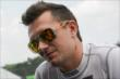 Mikhail Aleshin waits on pitlane prior to practice for the Honda Indy 200 at Mid-Ohio -- Photo by: Joe Skibinski
