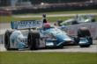 James Hinchcliffe flies up the frontstretch during practice for the Honda Indy 200 at Mid-Ohio -- Photo by: Joe Skibinski