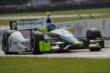 Josef Newgarden flies up the frontstretch during practice for the Honda Indy 200 at Mid-Ohio -- Photo by: Joe Skibinski