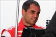 Juan Pablo Montoya chats in his pit stand prior to practice for the Honda Indy 200 at Mid-Ohio -- Photo by: Bret Kelley