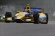 Marco Andretti on course during qualifications for the Honda Indy 200 at Mid-Ohio -- Photo by: Bret Kelley