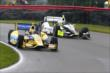 Marco Andretti and Josef Newgarden go side-by-side during qualifications for the Honda Indy 200 at Mid-Ohio -- Photo by: Bret Kelley