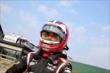 Helio Castroneves preps for practice for the Honda Indy 200 at Mid-Ohio -- Photo by: Bret Kelley