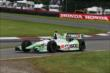Sebastien Bourdais enters pit lane during qualifications for the Honda Indy 200 at Mid-Ohio -- Photo by: Chris Jones