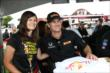 Ryan Hunter-Reay poses for a photo in the INDYCAR Fan Village at Mid-Ohio -- Photo by: Chris Jones