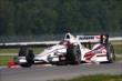 Juan Pablo Montoya enters the Turn 2 Keyhole turn during practice for the Honda Indy 200 at Mid-Ohio -- Photo by: Chris Jones