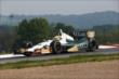 Mike Conway navigates the Turn 2 Keyhole turn during practice for the Honda Indy 200 at Mid-Ohio -- Photo by: Chris Jones