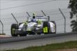 Josef Newgarden apexes the Turn 2 Keyhole turn during practice for the Honda Indy 200 at Mid-Ohio -- Photo by: Chris Jones