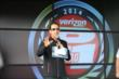 Helio Castroneves speaks to the fans in the INDYCAR Fan Village at Mid-Ohio -- Photo by: Chris Jones
