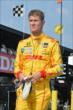 Ryan Hunter-Reay preps for practice on pit lane for the Honda Indy 200 at Mid-Ohio -- Photo by: Chris Owens