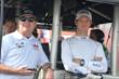 Sebastien Bourdais and KVSH Racing Team Co-Owner Jimmy Vasser in the pit stand prior to practice for the Honda Indy 200 at Mid-Ohio -- Photo by: Chris Owens