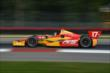 Sebastian Saavedra exits Turn 1 during practice for the Honda Indy 200 at Mid-Ohio -- Photo by: Chris Owens