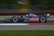 Graham Rahal apexes Turn 1 during practice for the Honda Indy 200 at Mid-Ohio -- Photo by: Chris Owens
