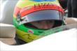 Mike Conway sits in his car on pitlane prior to qualifications for the Honda Indy 200 at Mid-Ohio -- Photo by: Joe Skibinski