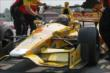 Ryan Hunter-Reay sits on pit lane prior to practice for the Honda Indy 200 at Mid-Ohio -- Photo by: Joe Skibinski
