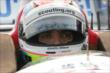 Justin Wilson sits in his machine prior to qualifications for the Honda Indy 200 at Mid-Ohio -- Photo by: Joe Skibinski