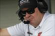 KVSH Racing co-owner Jimmy Vasser in his team's pit stand during qualifications for the Honda Indy 200 at Mid-Ohio -- Photo by: Joe Skibinski