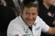 Marco Andretti shares a laugh in the INDYCAR Fan Village at Mid-Ohio -- Photo by: Joe Skibinski