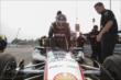 Will Power climbs into his machine prior to practice for the Honda Indy 200 at Mid-Ohio -- Photo by: Joe Skibinski