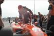 Simon Pagenaud climbs out of his machine following practice for the Honda Indy 200 at Mid-Ohio -- Photo by: Joe Skibinski