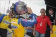Marco Andretti preps for practice at Mid-Ohio under watch from his grandfather, Mario -- Photo by: Joe Skibinski