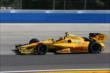 Ryan Hunter-Reay enters Turn 3 during practice for the ABC Supply Wisconsin 250 at the Milwaukee Mile -- Photo by: Chris Jones