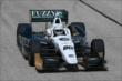 Ed Carpenter heads down the front stretch during practice for the ABC Supply Wisconsin 250 at the Milwaukee Mile -- Photo by: Chris Jones