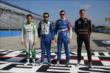 The 2014 Verizon IndyCar Series rookie class (L-R): Carlos Munoz, Carlos Huertas, Mikhail Aleshin, and Jack Hawksworth -- Photo by: Chris Jones