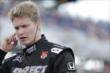 Josef Newgarden waits on pit lane prior to his qualification run for the ABC Supply Wisconsin 250 at the Milwaukee Mile -- Photo by: Shawn Gritzmacher