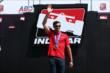 Sochi Olympic men's skeleton bronze medalist Matt Antoine is introduced during pre-race ceremonies for the ABC Supply Wisconsin 250 at the Milwaukee Mile -- Photo by: Chris Jones