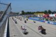 The traditional Harley-Davidson motorcycle parade during pre-race ceremonies for the ABC Supply Wisconsin 250 at the Milwaukee Mile -- Photo by: Chris Jones