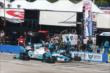 James Hinchcliffe comes in for a routine pit stop during the ABC Supply Wisconsin 250 at the Milwaukee Mile -- Photo by: Chris Jones