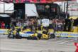 Marco Andretti comes in for a routine pit stop during the ABC Supply Wisconsin 250 at the Milwaukee Mile -- Photo by: Chris Jones