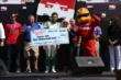 Carlos Munoz accepts the Firestone Pit Stop Performance award for Andretti Autosport for their performance at Mid-Ohio -- Photo by: Chris Jones